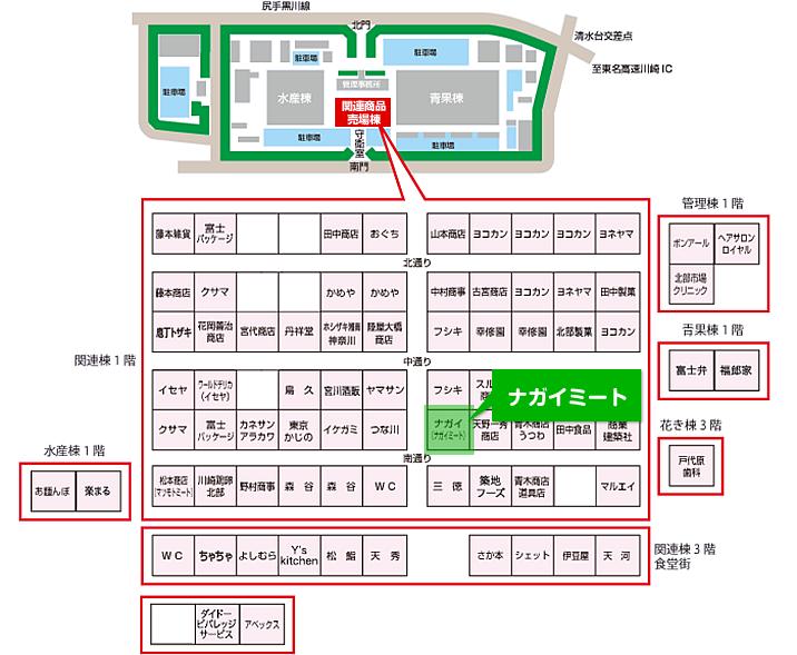 ナガイミート(場内案内図)